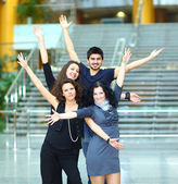 Group of merry students. — Stock Photo