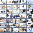 Royalty-Free Stock Photo: Collage with businesspeople working together and tools