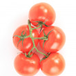 Stock Photo: Tomato vegetables and parsley leaves still life isolated on whit
