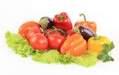 Verdura fresca pepe isolato su sfondo bianco — Foto Stock