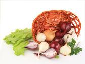 Pieprz świeże warzywa na białym tle — Zdjęcie stockowe