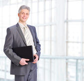 Businessman with the documents in the office. — Stock Photo