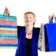 Royalty-Free Stock Photo: Beautiful woman in a campaign behind purchases.