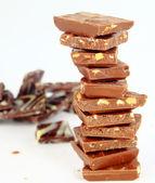шоколад, изолированные на белом фоне — Стоковое фото