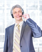 The operator of communication in the office. — Stock Photo