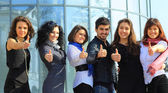 Group of merry students — Stock Photo