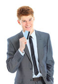 The young handsome businessman isolated on a white background. — Stock Photo