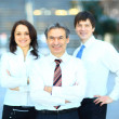Successful business group in a row smiling   — ストック写真