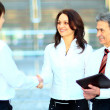 Business men hand shake in the office  — Stockfoto