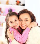 Mamma med sin dotter. — Stockfoto