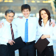 Happy group of business smiling at the office — Stock Photo #22335929