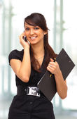 Nice business woman. Negotiations in the office — Stock Photo