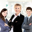 Confident business woman with team behind her — Stock Photo #22661065