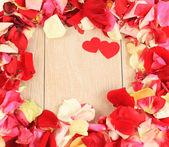 Rahmen der schöne blütenblätter von rosen — Stockfoto