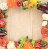 Colorful vegetable frame — 图库照片