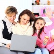 Stock Photo: Family of laptop.