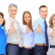 Image of business giving the thumbs-up sign — Stock Photo #24008797