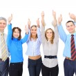 Image of business giving the thumbs-up sign — Stock Photo #24008925