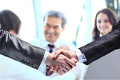 The businessman. Hand for a handshake. The conclusion of the transaction. — Stock Photo