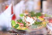 Una variedad de deliciosos productos culinarios. — Foto de Stock