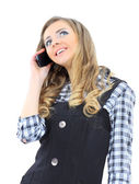 A businesswoman talking on the phone. — Stock Photo
