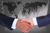 The conclusion of the transaction. Handshake. — Stock Photo