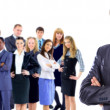 Businessman with coworkers. — Stock Photo