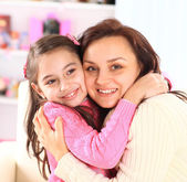 The mother with her daughter. — Stock Photo