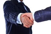 The conclusion of the transaction. Handshake. — Foto de Stock