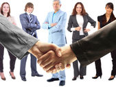 Handshake. The conclusion of the transaction — Stock Photo