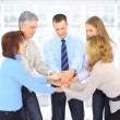 A group of business people in the office. — Stock Photo