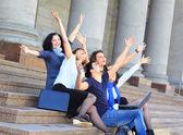 Skupina veselé studentů. — Stock fotografie
