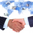 The conclusion of the transaction. Handshake. — Stock Photo #29791495