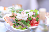 A variety of delicious culinary products. — Stock Photo