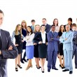 Stockfoto: Businessman with coworkers.