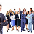 Foto Stock: Businessman with coworkers.