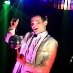 Cool nightclub party dj portrait — Stock Photo