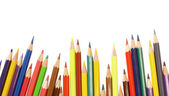 Colorful pencils isolated on the white background. — Foto Stock