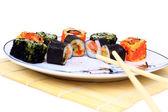 Traditional japanese food, Sushi — Stock Photo