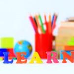 School supplies. The main word. — Stock Photo #35595757
