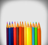 Coloured pencils on the white table. — Stock Photo
