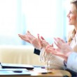 Photo of business partners hands applauding at meeting — Stock Photo #36025711