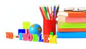 School supplies. The main word. — Stock Photo