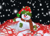 Праздничная снеговик рождества светлом фоне — Стоковое фото