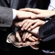 Team work concept. Business people joining hands — Stok Fotoğraf #39702735
