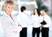 良好的工作天业务女子肖像 — 图库照片