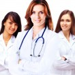 Portrait of group of smiling hospital colleagues standing together — Stock Photo #47902963