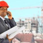 Smiling men architect working — Stock Photo #8479853