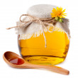 Stock Photo: Honey in pot