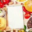 Stock Photo: Blank recipe book